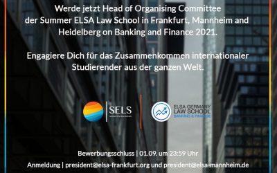 Head of Organising Committee (HoOC) gesucht!