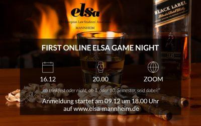 Erste ELSA-Online-Game-Night am 16.12.2020 um 20.00 Uhr