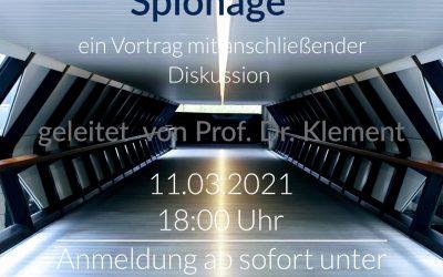 """Prof. Dr. Klement über """"Verrechtlichung der Spionage – ein """"Verfassungsverbund unter Freunden""""?"""""""