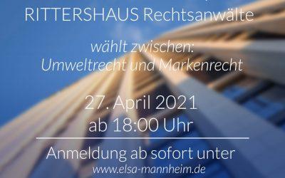 L@W Event mit RITTERSHAUS Rechtsanwälte zu Markenrecht & Umweltrecht