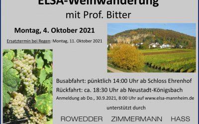 ELSA-Weinwanderung mit Prof. Bitter